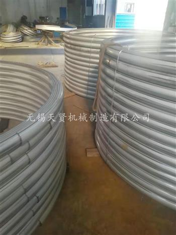冷却定型半圆管的方式